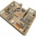 2 Bedroom 2 Bath -- 1,108 sqft